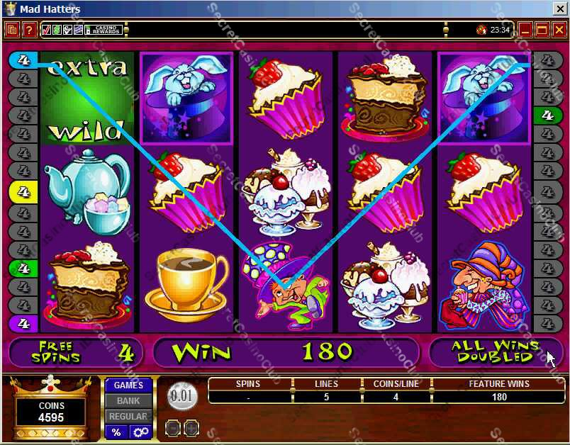Casino Kingdom,Casino Rewards,Slots,Video Slots,Bonus Slots,30 Payline,5 Reel,Mad Hatters,2007,August,Free Spin,Bonus Round,Extra Wild Symbol,Wild Symbol