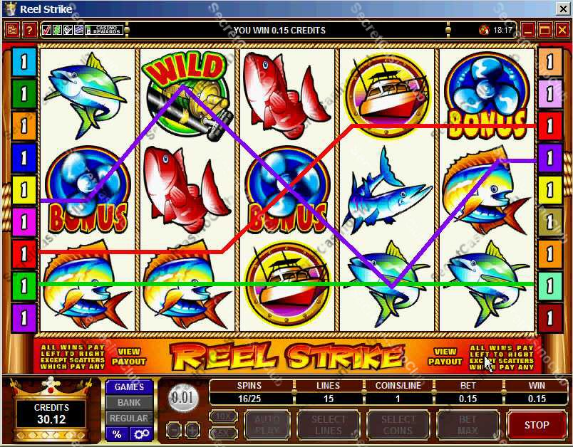 Casino Kingdom,Casino Rewards,Slots,Video Slots,Bonus Slots,15 Payline,5 Reel,Reel Strike,2007,August,Wild Symbol